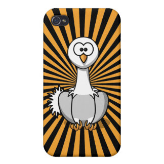 Customizable Stripy Ostrich Cartoon iPhone 4 Case