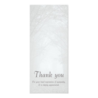 Customizable sympathy thank you vertical photocard card