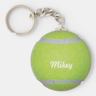 Customizable Tennis Ball Basic Round Button Key Ring
