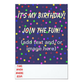 Customizable Toddler Birthday Invitations Dots