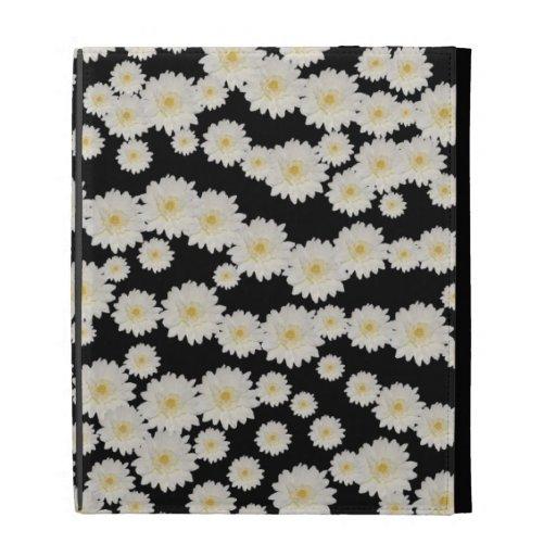 Customizable White Mums iPad Folio Covers