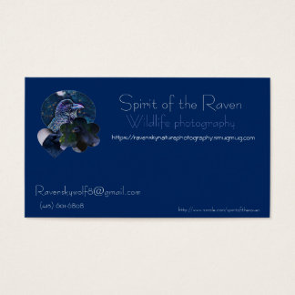 Customizable wildlife photography business card Sp