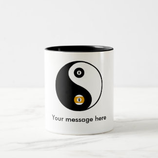 Customizable YinYang pool mugs