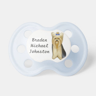 Customizable Yorkshire Terrier Puppy Dog Pacifier