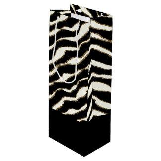 Customizable Zebra Print Gift Bag