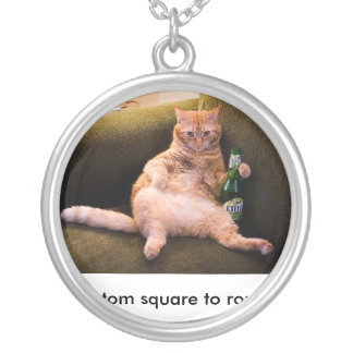 customize a square to round round pendant necklace