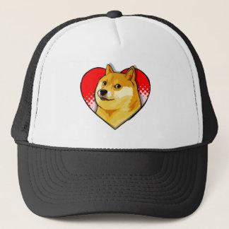 Customize Doge Meme Love Heart Trucker Hat