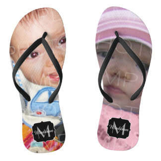Customize it with Your photos Monogram Jandals