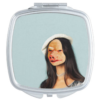 Customize Me! Pig Face Compact Mirror