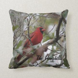 Customize Nice Cardinal photo Throw Pillow