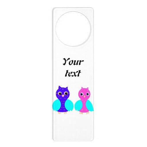 Customize Owl Couple Door Hanger