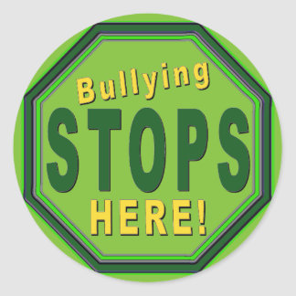Customize Stop Bullying NOw Classic Round Sticker