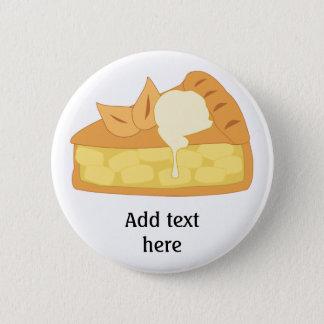 Customize this Apple Pie Slice graphic 6 Cm Round Badge