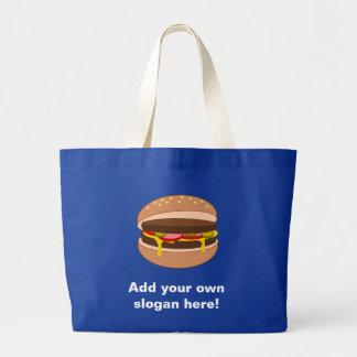 Customize this Hamburger graphic Large Tote Bag