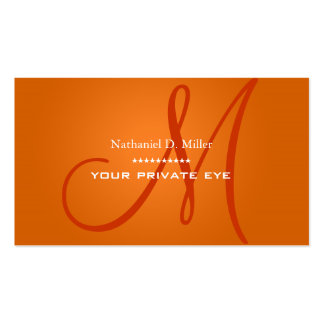 Customize this monogram business card