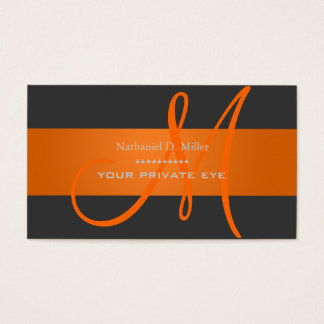 Customize this monogram business card/diy color