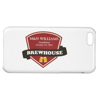 Customize Your Name Brewhouse Logo Case For iPhone 5C