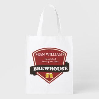 Customize Your Name Brewhouse Logo Reusable Grocery Bag