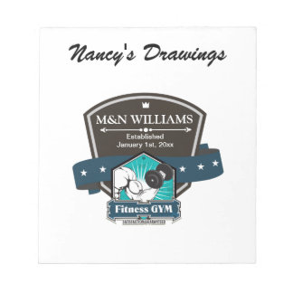 Customize Your Name Fitness Gym Logo Notepad