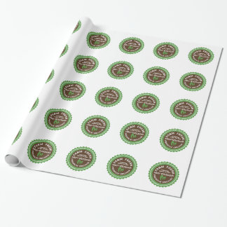 Customize Your Name Organic Farm Logo Wrapping Paper