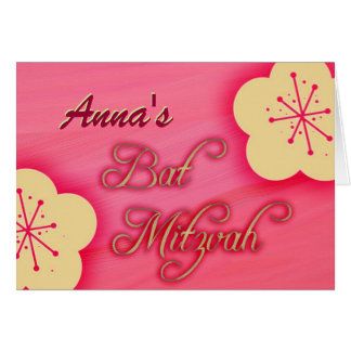 Customize your own Bat Mitzvah invitation Greeting Card