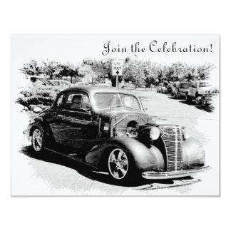 Customizeable Antique Car Retirement Party Invite