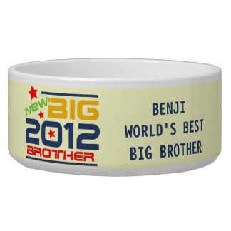 Customized 2012 Big Brother Dog Dish Dog Food Bowls