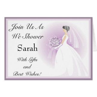 Customized Bridal Shower Invitations Greeting Card