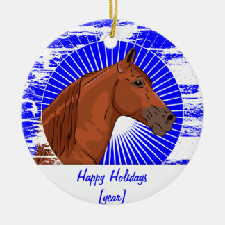 Customized Chestnut Tennessee Walking Horse Ornaments