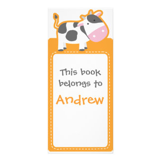 Customized*Cow Bookmarks Book Custom Rack Cards