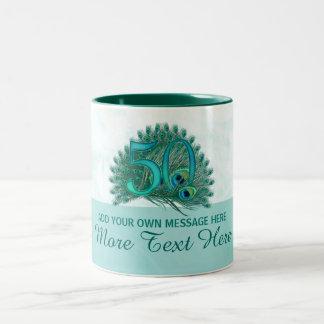 Customized elegant 50th birthday 50 text mug