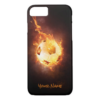 Customized Football under Fire, Ball, Soccer iPhone 7 Case