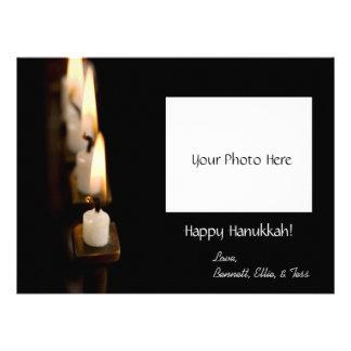 Customized Hanukkah Menorah w Photo Custom Invitations