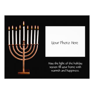 Customized Hanukkah Menorah w Photo Invitation