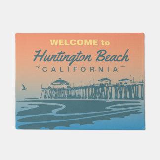Customized Huntington Beach Pier Design Doormat