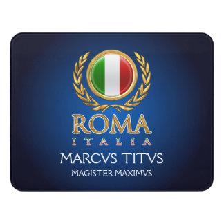 Customized Italian Flag Door Sign
