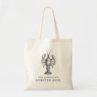 Customized Lobster Boil Seafood Bake Event Tote Bag