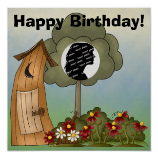 Customized Outhouse Birthday Poster