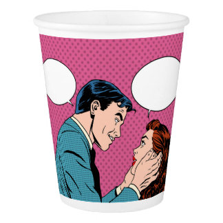Customized paper love cup
