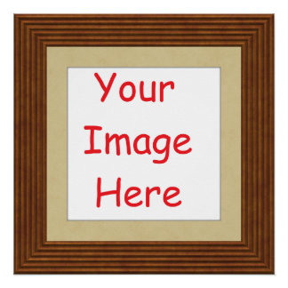 Customized personalized printed frame picture - poster