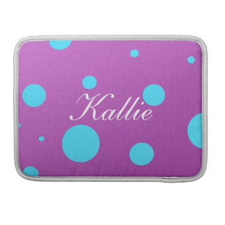 Customized Polka Dot Macbook Pro Case Sleeves For MacBooks