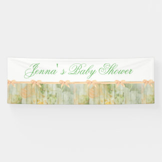 Customized Rustic Floral WBaby Shower Banner