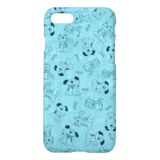 Cut Blue Animal Pattern iPhone 8/7 Case