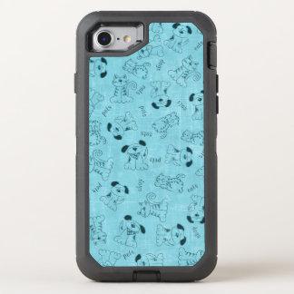 Cut Blue Animal Pattern OtterBox Defender iPhone 7 Case