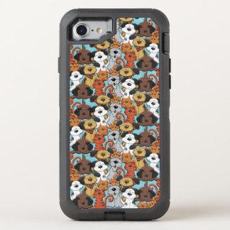 Cut Brown Animal Pattern OtterBox Defender iPhone 7 Case