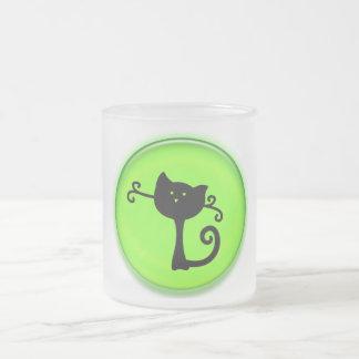 Cute 3D Black Cartoon Cat Mug