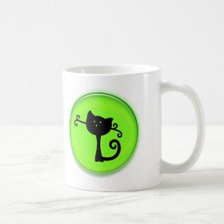 Cute 3D Black Cartoon Cat Coffee Mugs