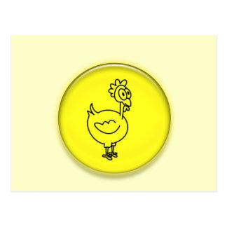 Cute 3D Chicken Cartoon Post Card
