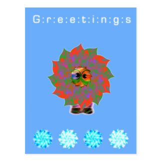 Cute Alien Greetings | Happy Holiday Season Postcard