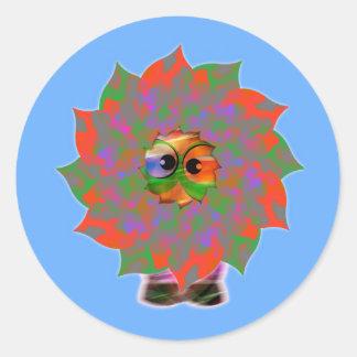 Cute Alien Greetings | Happy Holiday Season Round Sticker